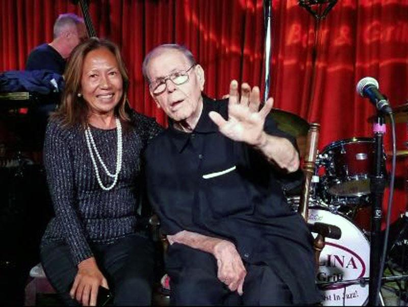 Maria Forteza, presidente Il Signorino, con Jack Sheldon